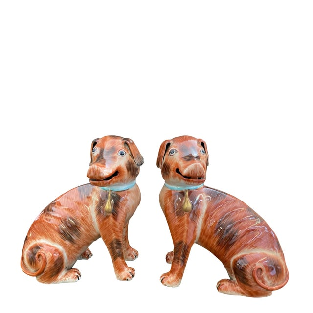 Antique Chinese Export Dogs - a Pair For Sale - Image 4 of 4