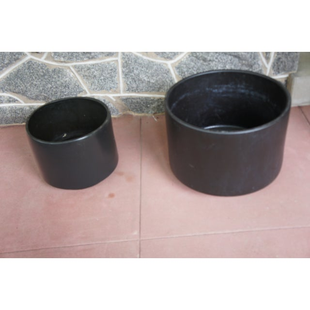 Gainey Style Graphite Gray Planters - A Pair - Image 3 of 9