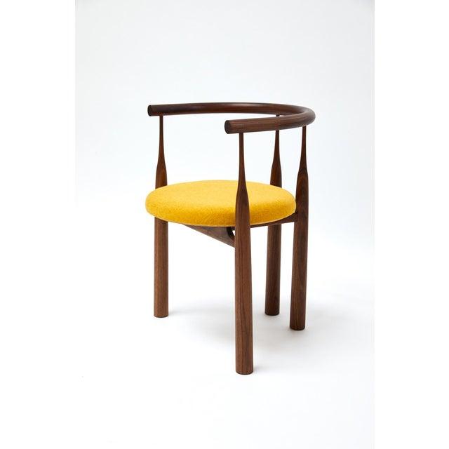 Steven Bukowski Bellbottom Chair in Walnut For Sale In New York - Image 6 of 6