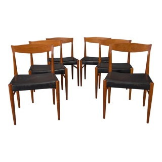 Teak Danish Modern Dining Chairs by Henning Kjaernulf - Set of 6 For Sale