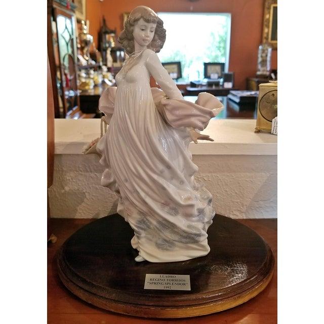Late 20th Century Lladro Spanish Porcelain Figurine of Spring Splendor (Retired) For Sale - Image 5 of 13