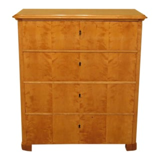 Antique Biedermeier Birdseye Maple Chest For Sale