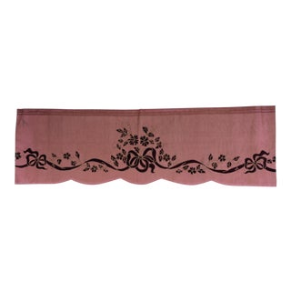 Pink Appliqued Window Valence With Ribbon & Bows