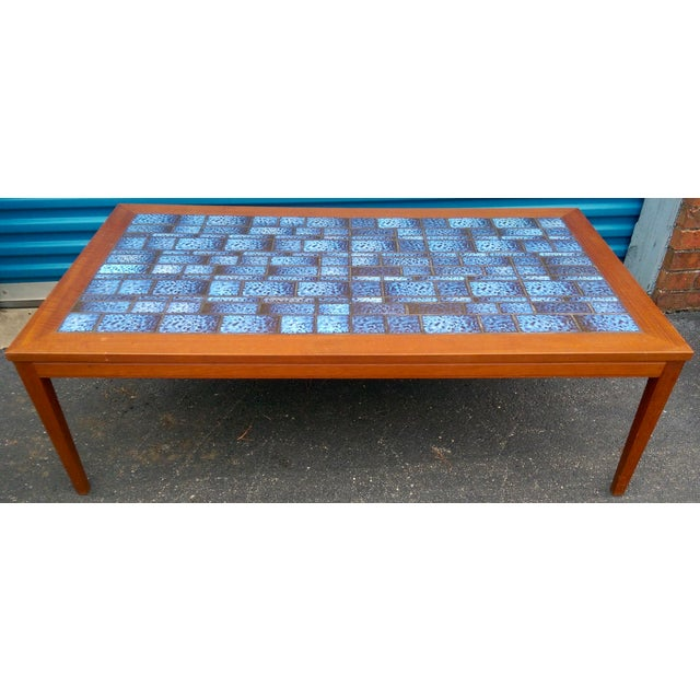 Blue Tiled Coffee Table - Image 3 of 7