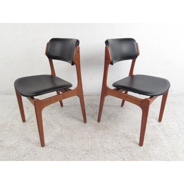 Vintage Erik Buch Scandinavian Modern Dining Chairs - Set of 6 - Image 4 of 11