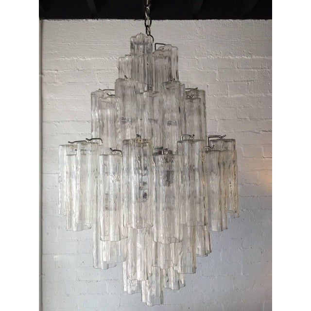 Tronchi Glass Chandelier by Venini for Murano - Image 2 of 9
