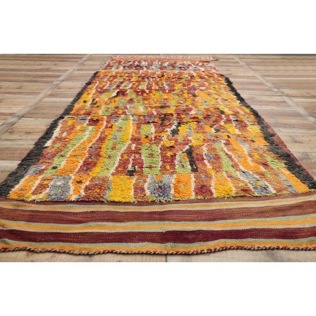 Textile Vintage Berber Ait Bou Ichaouen Moroccan Rug - 5'4 X 13'4 For Sale - Image 7 of 10