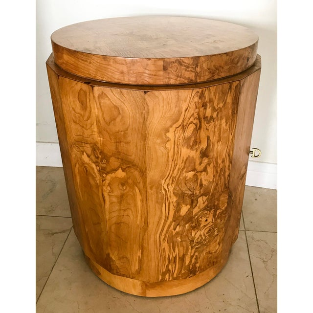 Edward Wormley for Dunbar Burl Wood Bar Cabinet - Image 2 of 7