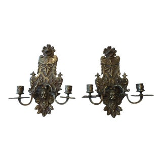 19th Century Italian Bronze Sconces - A Pair