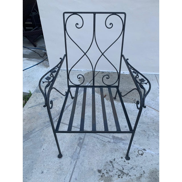 Salterini Grape Wrought Iron Patio Lounge Arm Chairs - a Pair For Sale - Image 4 of 8