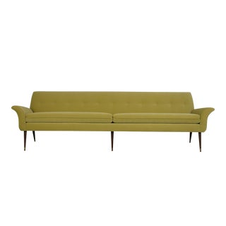 Danish Modern Sofa Newly Upholstery Fabric For Sale