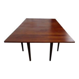 Vintage Danish Style Solid Cherry Drop Leaf Dining Table