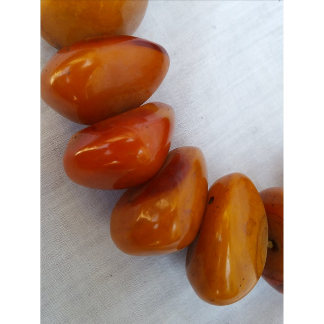 African Amber Bead Necklace - Image 3 of 5