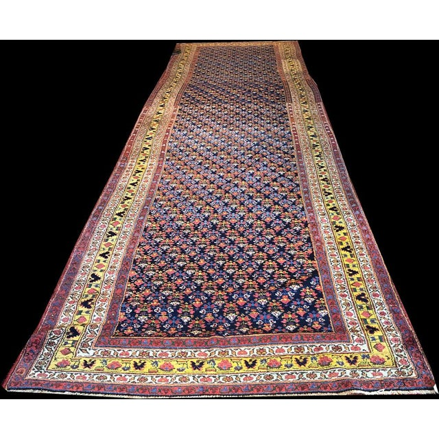 Traditional Antique Gallery Size Persian Malayer Rug - 5′6″ × 20′ For Sale - Image 3 of 6