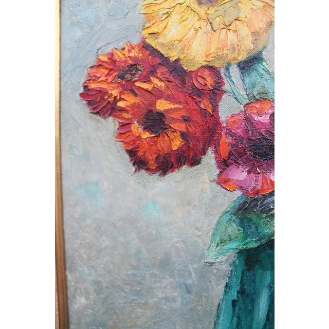 Alexander Vintage Still Life of Flowers Painting For Sale In Miami - Image 6 of 9