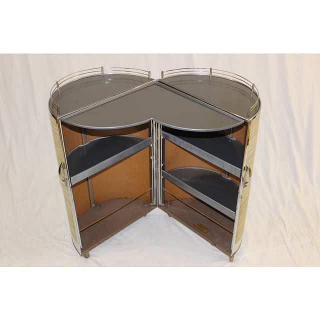 Mid Century Modern Circular Bar Cart - Image 4 of 9