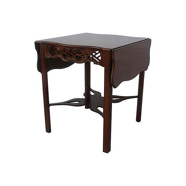 Traditional Baker Flip-Top Table For Sale - Image 3 of 6