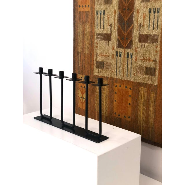 Black Van Keppel and Green Candelabra Circa 1950s For Sale - Image 8 of 9