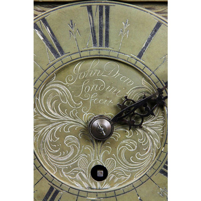 William and Mary Brass Lantern Clock by John Drew, London For Sale - Image 4 of 10