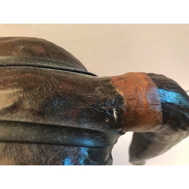 Figurative 1980s Vintage Leather Horse For Sale - Image 3 of 8