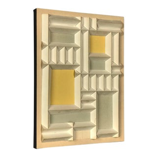 Abstract Expressionist Relief by Irving Harper Paper Sculpture Geometric Design For Sale