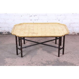 Kittinger Hollywood Regency Faux Bamboo Gold Leaf Cocktail Table Preview