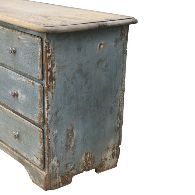 Paint 19th Century Painted Three-Drawer Commode For Sale - Image 7 of 11