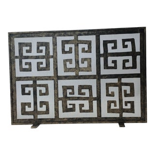 Claire Crowe Collection Maze Fireplace Screen For Sale