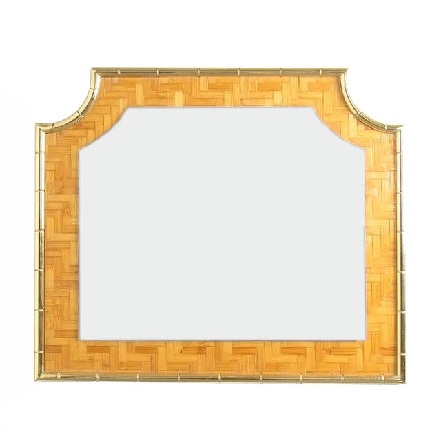 Bamboo Brass Console Table and Mirror, Italy 1950 For Sale - Image 4 of 13