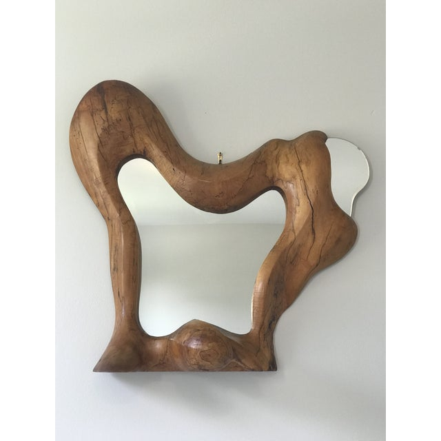 Biomorphic Studio-Craft Free-Form Wall Mirror For Sale - Image 11 of 11