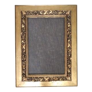 "Large Antique 1900s Edwardian Era High Relief Gilt Frame 27 7/8"" X 42 1/4"" For Sale"