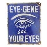 Image of Vintage Enamel Eye Sign For Sale