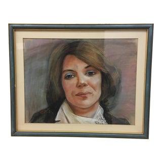 Drawing - Framed Pastel Portrait
