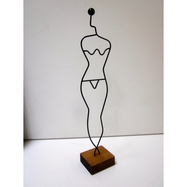 Modern Wire Tabletop Modernist Female Mannequin | Chairish
