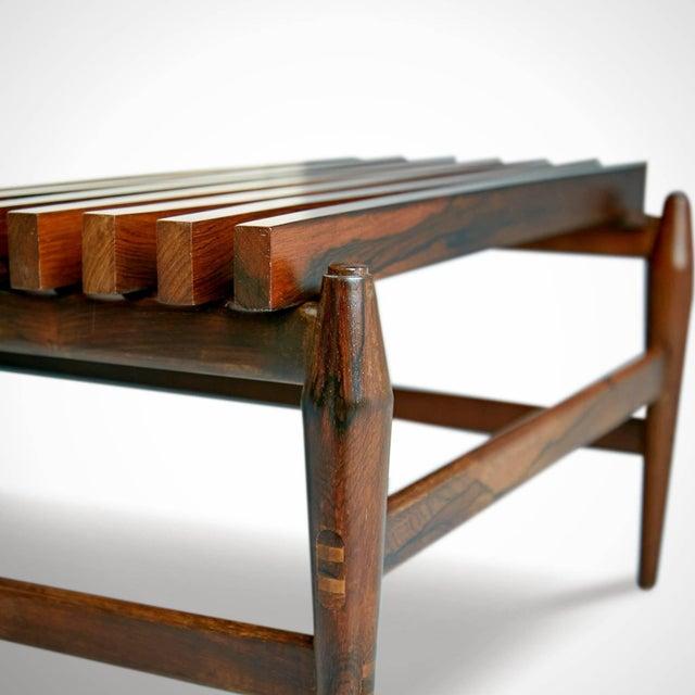White 1950s Liceu De Artes E Oficios Jacaranda Sofa & Side Tables, Brazil - 3 Pc. Set For Sale - Image 8 of 11