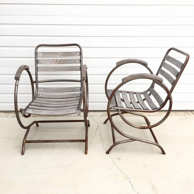 Swell 1940S Vintage French Garden Chairs A Pair Ocoug Best Dining Table And Chair Ideas Images Ocougorg