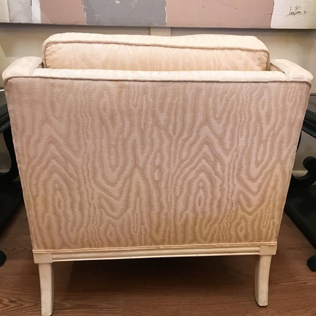 Upholstered & Cane Mid-Century Armchair - Image 4 of 9