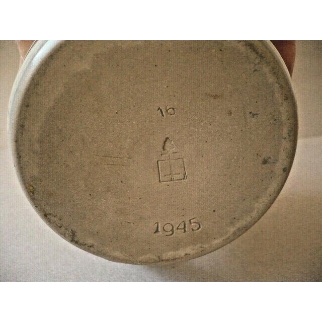 Beautiful Art Nouveau pitcher manufacturer Höhr Marzi & Remy circa 1900 designed by Peter Behrens. Contents 1 liter, in...