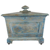 Image of 19th Century English Painted Wine Cooler Box For Sale