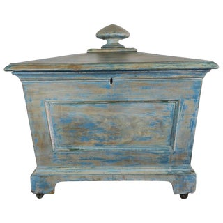 19th Century English Painted Wine Cooler Box For Sale