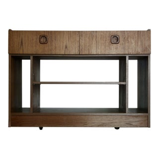 Danish Modern Teak Entry Cabinet / Nightstand For Sale