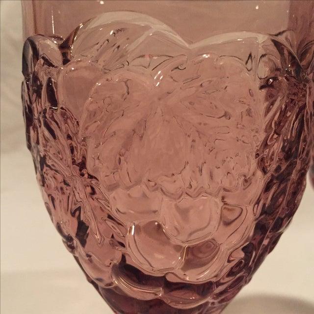 Amethyst Grape Motif Goblets - Set of 8 - Image 6 of 6