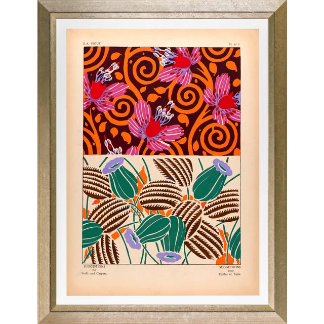 """Framed E. A. Seguy Print, """"Suggestions"""" Plate No. 06 For Sale"""