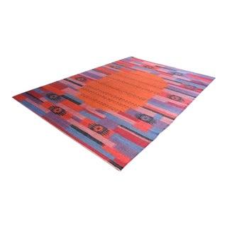 """Handmade Kilim Area Rug - 6'8"""" X 9'5"""" - Free Rug Pad"""
