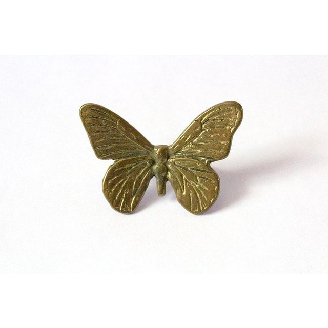 Vintage Mid-Century Brass Butterfly Napkin Rings - Set of 4 For Sale In Dallas - Image 6 of 9