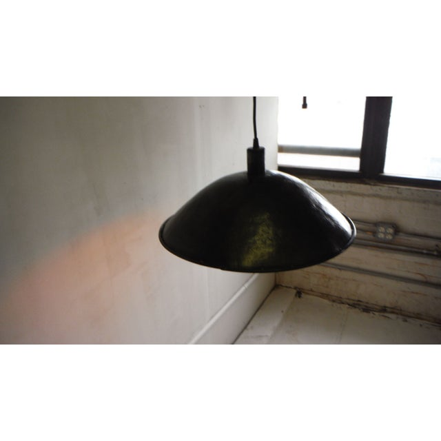 Large Hubcap Pendant Light For Sale - Image 4 of 5