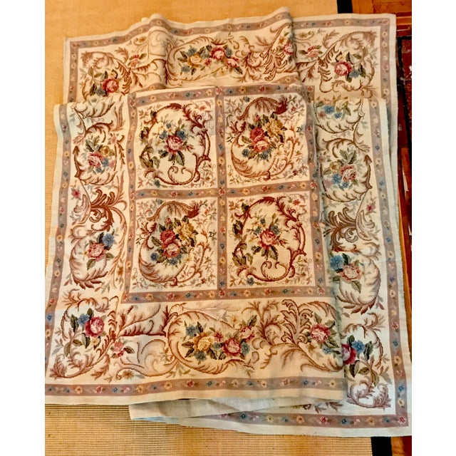 Textile French Aubusson Needlepoint Rug 8 6 11 For