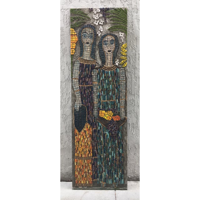 This work by the late Juanita May of Coconut Grove Florida. She was well known for her amazing mosaic work. She studied...