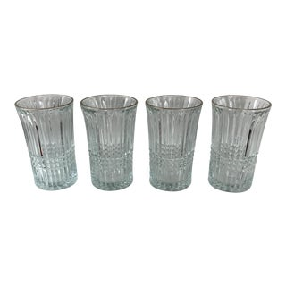 Vintage Glass Tumblers With Gold Rim - Set of 4