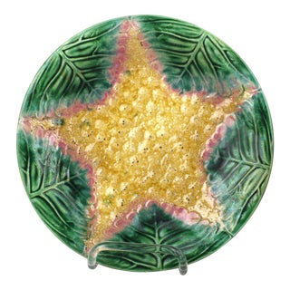 Majolica Starfish Plate For Sale
